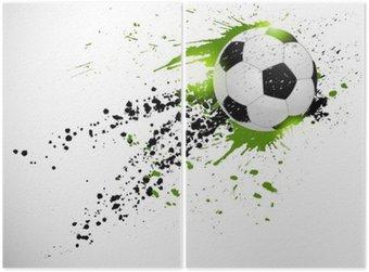 Soccer design Diptych