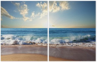 Sunset at the beach Diptych