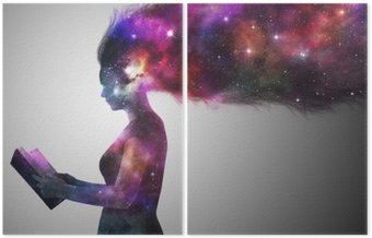 Diptych Universe woman