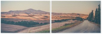 Diptych Vintage tuscan landscape