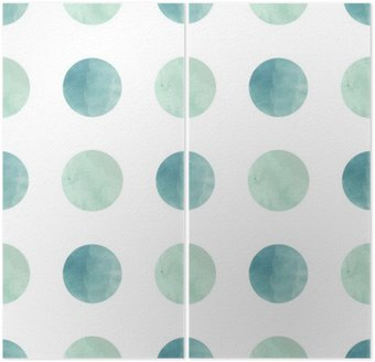 Watercolor texture. Seamless pattern. Watercolor circles in pastel colors on white background. Pastel colors and romantic delicate design. Polka Dot Pattern. Fresh and Mint Colors. Diptych