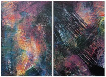 Diptychon Abstract backgrounds