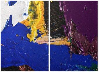 Diptychon Abstrakte Grafik Hintergrund Malerei
