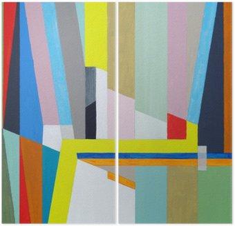 Diptychon Eine abstrakte Malerei