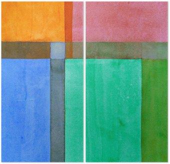 Diptychon Eine minimalistische abstrakte Malerei