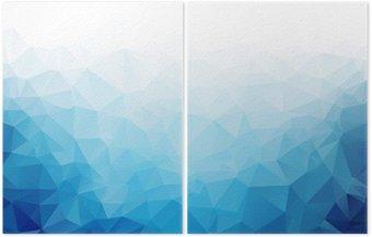 Diptychon Geometrische blaue Eis Textur Hintergrund