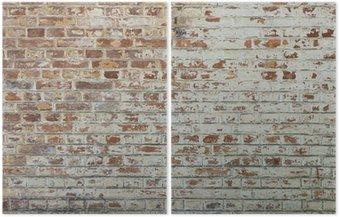 Diptychon Hintergrund der alten Vintage schmutzigen Mauer mit Peeling Gips
