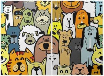 Diptychon Hunde und Katzen