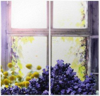 Diptychon Lavendel