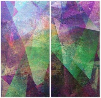 Diptychon Malerei graphik abstrakt
