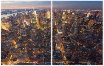 Diptychon Manhattan aus der Luft