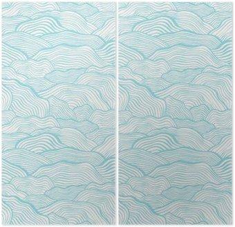 Diptychon Nahtlose Muster mit Wellen Skala Textur