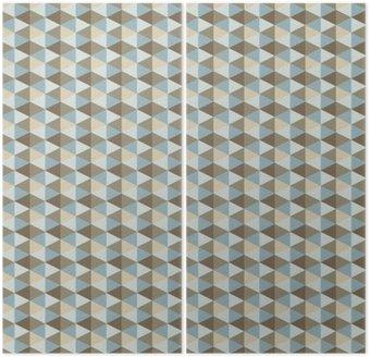 Diptych Abstraktní retro geometrický vzor