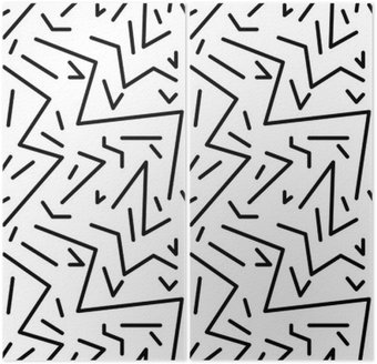 Diptych Bezešvé geometrický vzor vinobraní v retro stylu 80. let, Memphis. Ideální pro konstrukci materiálu, papíru a tisku webových stránek pozadí. EPS10 vektorový soubor