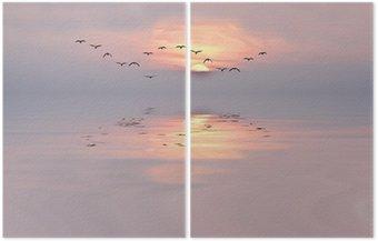 Diptych Dawn of jemných barvách