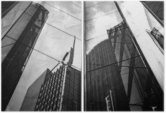 Diptych Moderní architektura černá a bílá
