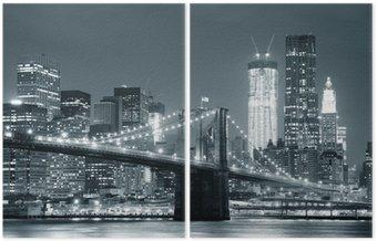 Diptych New York City Brooklyn Bridge