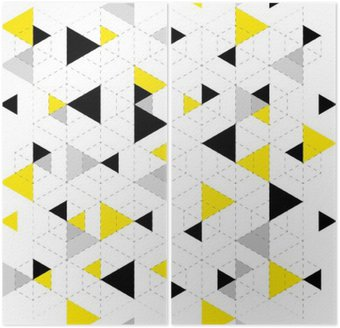 Diptych Pozadí geometrický vzor