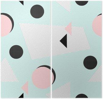 Diptych Retro geometrický vzor