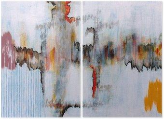 Diptyk En abstrakt målning