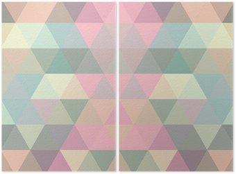 Diptyk Mosaik triangel bakgrund. geometrisk bakgrund
