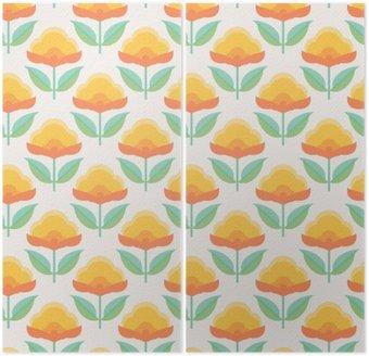 Diptyk Seamless blommiga mönster