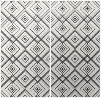 Diptyk Seamless geometriskt mönster