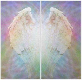 Diptyque Ailes d'ange sur multicolore matrice web