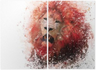 Diptyque Aquarelle Lion Head