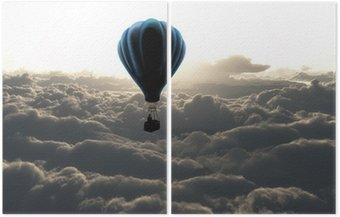 Diptyque Ballon à air sur le ciel