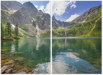Diptyque Beau paysage de montagnes Tatra et le lac en Pologne