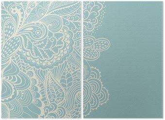 Diptyque Bordure de l'élément décoratif. Résumé carte d'invitation. Modèle wa