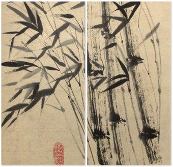 Diptyque Dessin original de bambou