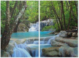 Diptyque Erawan Waterfall, Kanchanaburi, Thaïlande