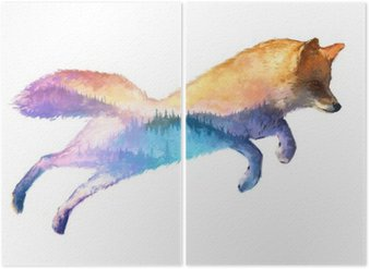 Diptyque Fox double exposition illustration