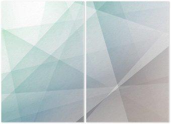Diptyque Hipster fond géométrique transparent moderne