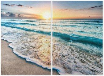 Diptyque Lever de soleil sur la plage de Cancun