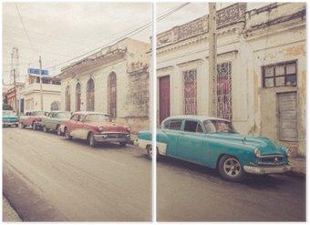 Diptyque Oldtimer une Straße der | Kuba