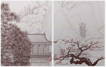 Diptyque Paysage chinois