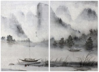 Diptyque Peinture chinoise