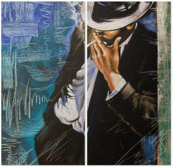 Diptyque Portrait de l'homme avec une cigarette