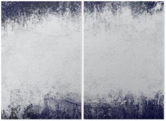 Diptyque Résumé de fond peint en bleu foncé et blanc avec un espace vide pour le texte