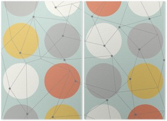 Diptyque Scandinavian seamless moderne géométrique