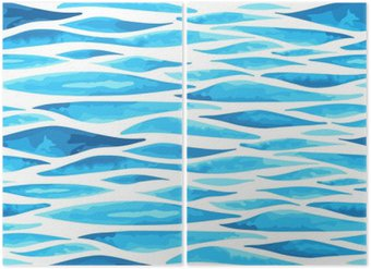 Diptyque Seamless horizontal background de la mer