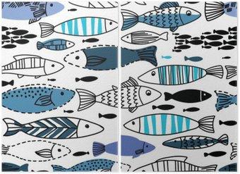 Diptyque Seamless sous-marine avec des poissons. Seamless peut être utilisé pour fonds d'écran, page web origines