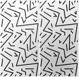 Diptyque Seamless vintage pattern géométrique dans le style rétro des années 80, memphis. Idéal pour la conception du tissu, du papier d'impression et le site Web toile de fond. fichier vectoriel EPS10