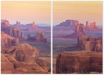 Diptyque Sunrise in Hunts Mesa à Monument Valley, Arizona, États-Unis