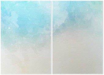 Diptyque Texture de fond aquarelle