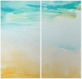 Diptyque Touches de couleurs aquarelle art peinture