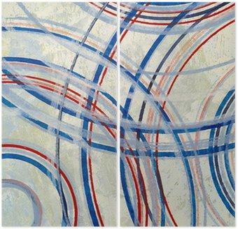Diptyque Une peinture abstraite